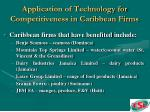 application of technology for competitiveness in caribbean firms65