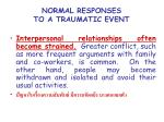 normal responses to a traumatic event15