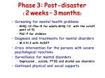 phase 3 post disaster 2 weeks 3 months