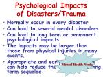 psychological impacts of disasters trauma