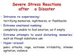 severe stress reactions after a disaster