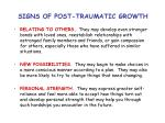 signs of post traumatic growth