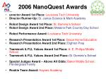 2006 nanoquest awards