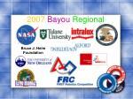 2007 bayou regional