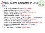 30 teams competed in 2006