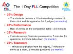 the 1 day f l l competition