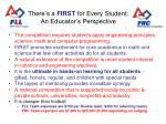 there s a first for every student an educator s perspective
