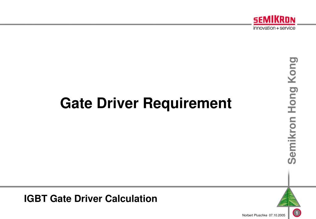 igbt gate driver calculation l.