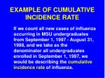 example of cumulative incidence rate