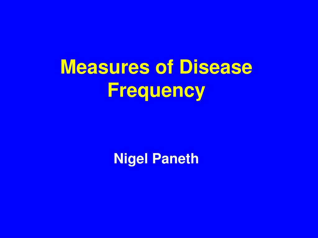 measures of disease frequency l.