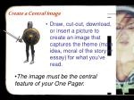 create a central image