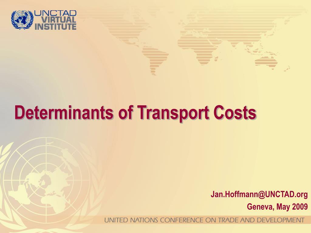 determinants of transport costs l.