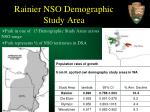 rainier nso demographic study area