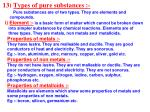 13 types of pure substances