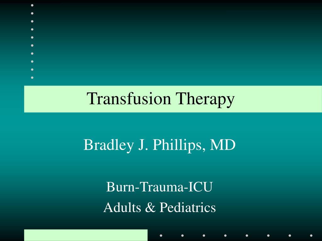 transfusion therapy l.