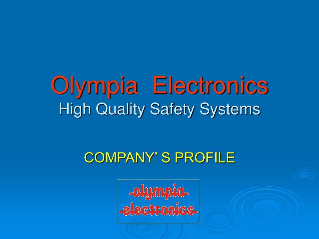 olympia electronics high quality safety systems l.