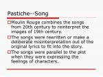 pastiche song
