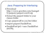 java preparing for interfacing
