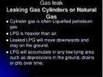 gas leak leaking gas cylinders or natural gas
