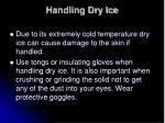 handling dry ice