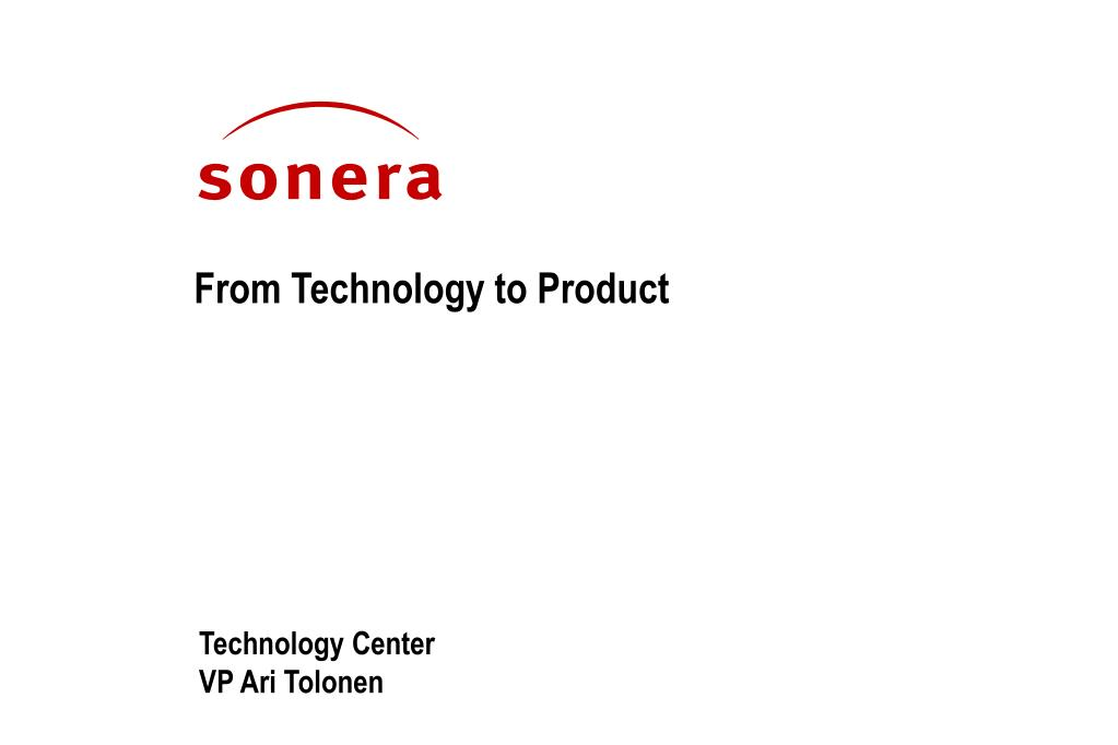 from technology to product l.