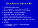 experience corps model
