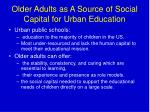 older adults as a source of social capital for urban education