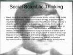 social scientific thinking