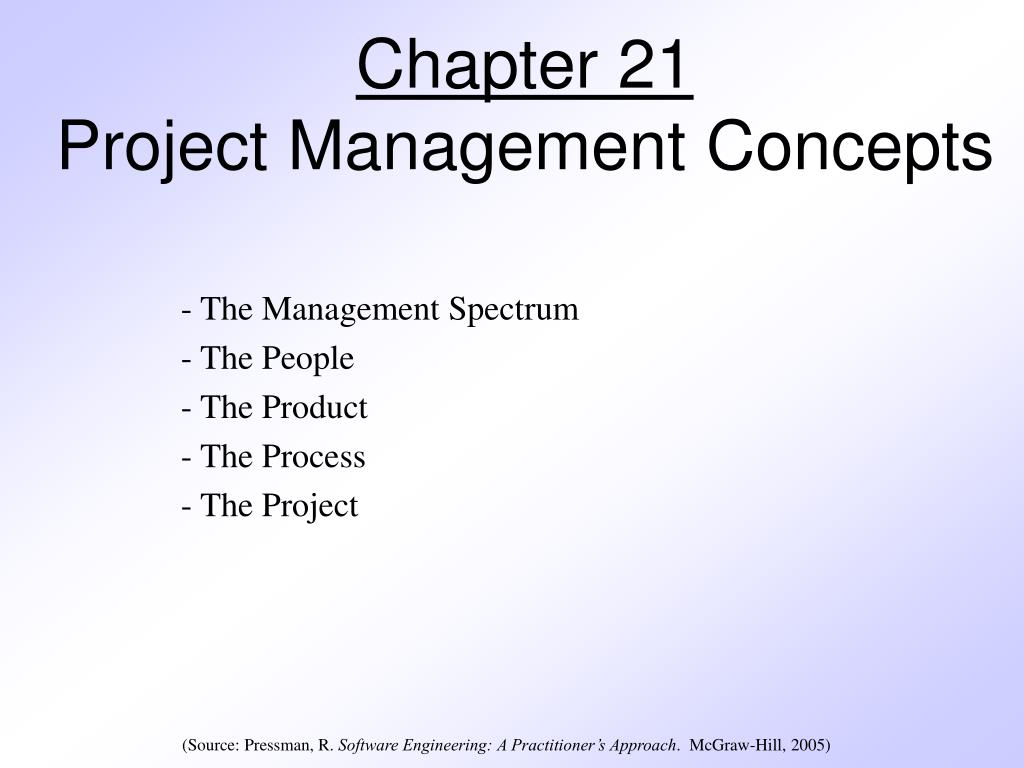 chapter 21 project management concepts l.