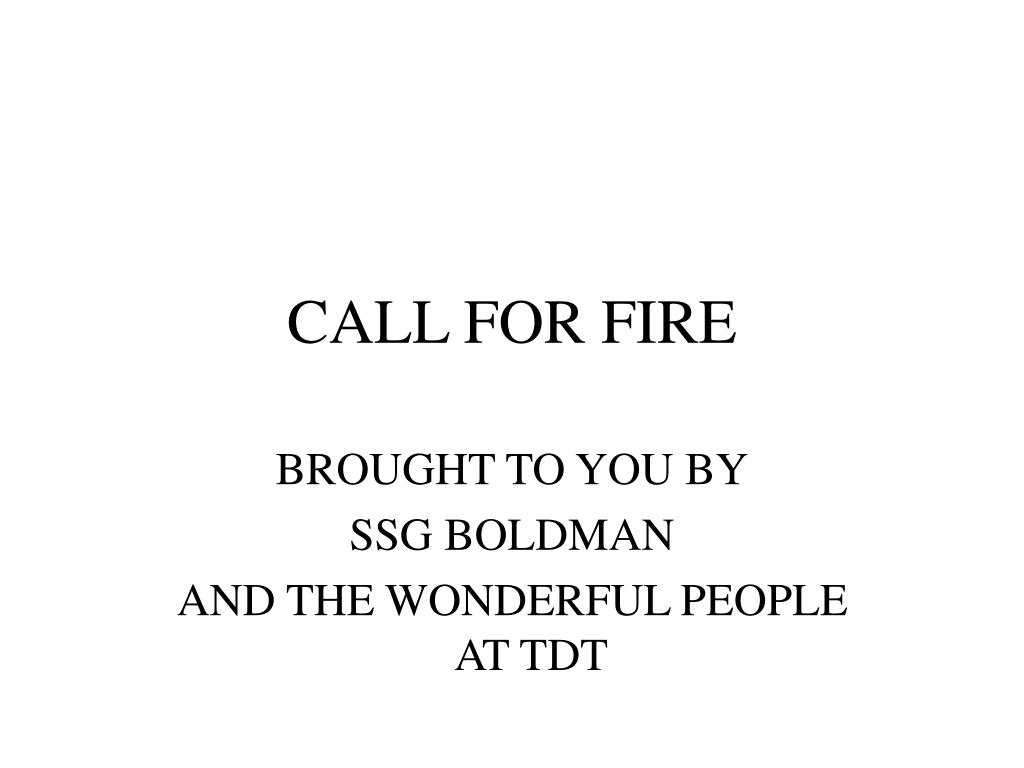 call for fire l.