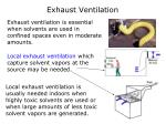 exhaust ventilation
