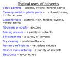 typical uses of solvents