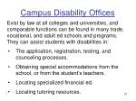 campus disability offices