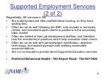 supported employment services 2 of 2