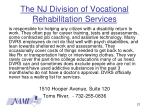 the nj division of vocational rehabilitation services