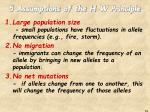 5 assumptions of the h w principle