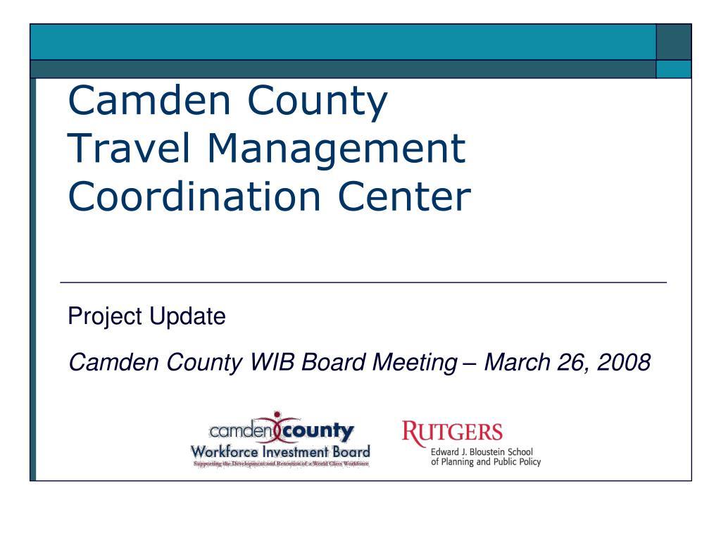 camden county travel management coordination center l.
