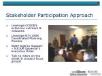 stakeholder participation approach