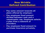 new wrinkle defined contribution