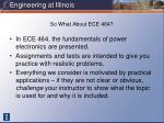 so what about ece 464