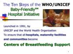 the t en s teps of the who unicef baby friendly hospital initiative
