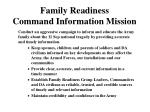 family readiness command information mission