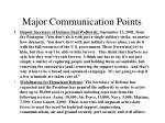 major communication points26