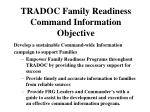 tradoc family readiness command information objective