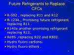 future refrigerants to replace cfcs