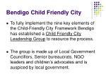 bendigo child friendly city