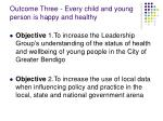 outcome three every child and young person is happy and healthy