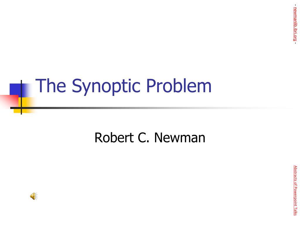 the synoptic problem l.