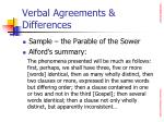 verbal agreements differences