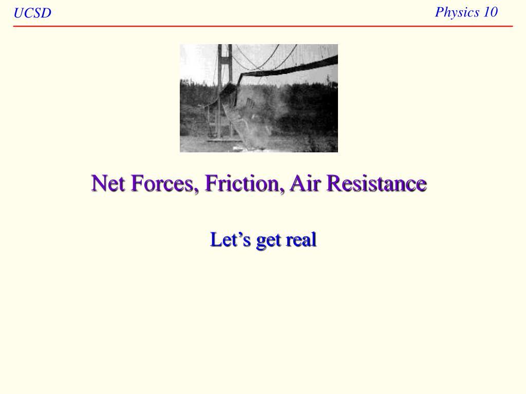 net forces friction air resistance l.